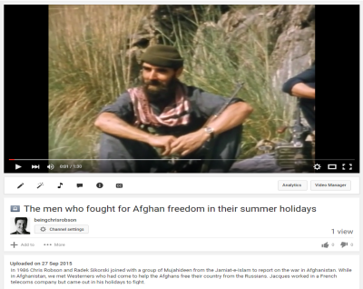 The men who fought for Afghan freedom in their summer holidays